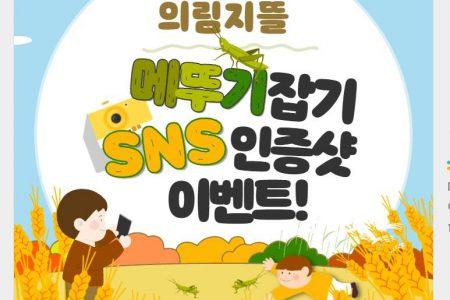 제천시, '메뚜기잡기SNS인증 이벤트' 진행